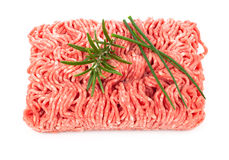 Raw minced meat. Isolated on white background Royalty Free Stock Photography
