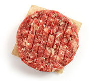 Raw minced meat for making a burger Royalty Free Stock Photography