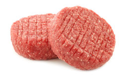 Raw minced meat for making hamburgers Royalty Free Stock Photos