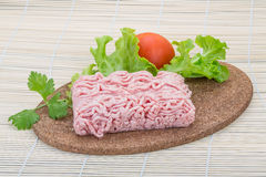 Raw minced pork meat Stock Photos