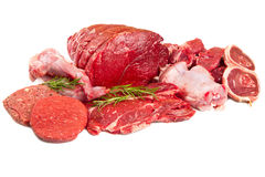 Raw mix meat Stock Photos