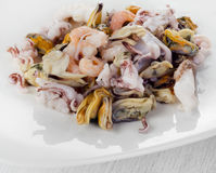 Raw Mixed seafood Royalty Free Stock Photos