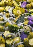 Raw mixed vegetables ready to grill Stock Image