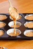 Raw Muffin Paste Stock Image