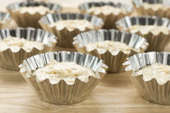 Raw muffins Royalty Free Stock Images