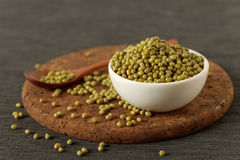 Raw mung beans Stock Photo