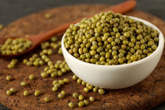 Raw mung beans Royalty Free Stock Photography