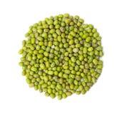 Raw mung beans, Vigna radiata,  isolated on white background Royalty Free Stock Photography