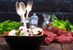 Raw mushroom Stock Photography
