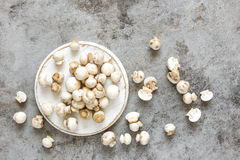 Raw mushrooms Royalty Free Stock Photos