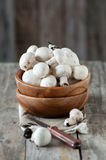 Raw mushrooms Royalty Free Stock Photography