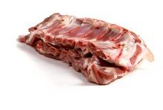 Raw mutton. Chop on white ground Stock Photos