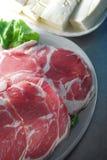 Raw mutton slice Stock Image
