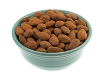 Raw natural almonds in a bowl Stock Photography