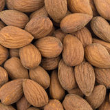 Raw natural almonds close view Royalty Free Stock Image