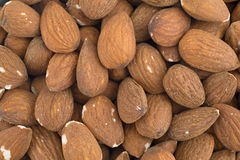Raw natural almonds close view Royalty Free Stock Images