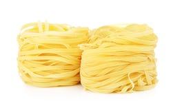 Raw Nest Pasta Royalty Free Stock Photos