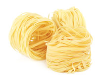 Raw Nest Pasta Royalty Free Stock Photography