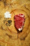 Raw New York Strip Steak Royalty Free Stock Image
