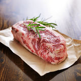 Raw new york strip steak Royalty Free Stock Photo