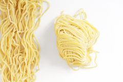 Raw noodle Stock Images