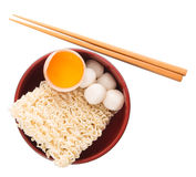 Raw Noodle and Ingredients I Royalty Free Stock Images