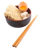 Raw Noodle and Ingredients IV Royalty Free Stock Photos