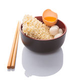 Raw Noodle and Ingredients IX Royalty Free Stock Image