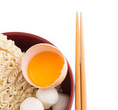 Raw Noodle and Ingredients V Stock Photos