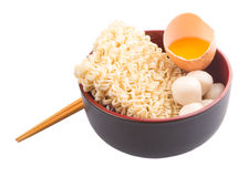 Raw Noodle and Ingredients VI Royalty Free Stock Photo