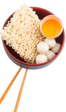Raw Noodle and Ingredients VIII Royalty Free Stock Photo