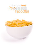 Raw noodles Royalty Free Stock Photo