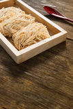 Raw noodles Stock Image