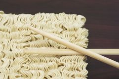 Raw noodles pack Stock Images
