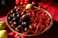 Raw Nutmeg Stock Image