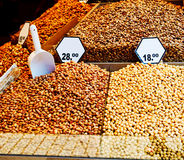 Raw nuts Stock Images