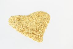 Raw oat seeds background Royalty Free Stock Image