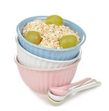 Raw oatmeal flakes Stock Images