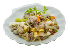 Raw octopus salad. Japan tradition food Royalty Free Stock Photography