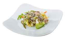 Raw octopus salad Royalty Free Stock Photography