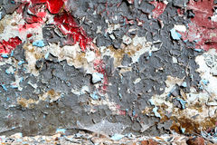 Raw old paint dirty wall background Royalty Free Stock Photos