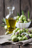 Raw olive for making oil Royalty Free Stock Photo