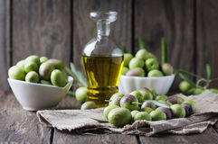Raw olive for making oil Royalty Free Stock Photos