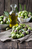 Raw olive for making oil Stock Image