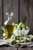 Raw olive for making oil Stock Photo
