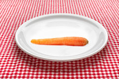 Carrot on plate Royalty Free Stock Image