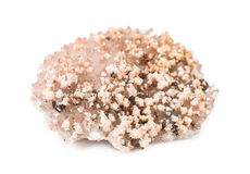 Raw ore of rose quartz crystal Royalty Free Stock Photography