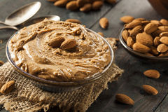 Raw Organic Almond Butter Royalty Free Stock Photos