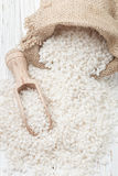Raw Organic Arborio Rice in a Bowl Royalty Free Stock Image