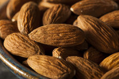 Raw Organic Brown Almonds Royalty Free Stock Photo